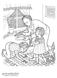 passover search for chametz coloring page print color fun