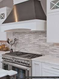 backsplashes for white kitchens modern white gray subway marble backsplash tile