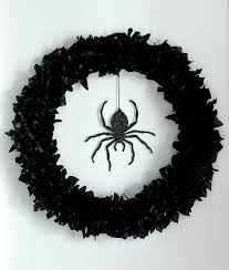 Halloween Spider Craft Ideas by Spider Wreath From Martha Stewart Crafts