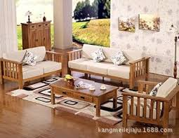 Solid Wood Living Room Furniture Simple All Solid Wood Oak Sofa Wooden Sofa Set Living Room