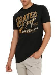 bates motel bates taxidermy logo t shirt topic