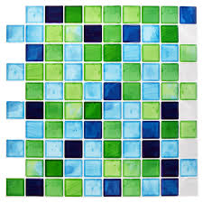mosaic tile stickers self adhesive 10x10in bathroom kitchen picture 2 of 2