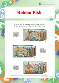 Visual Discrimination Worksheets Hidden Fish Individual File Download