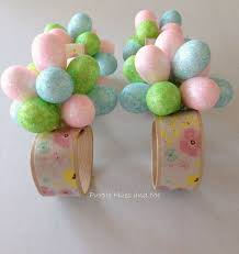 Easter Eggs Decorated With Paper Napkins by Easter Eggs Flower Napkin Rings Hometalk