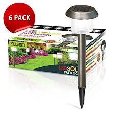 amazon com brightest stainless steel garden solar powered stake
