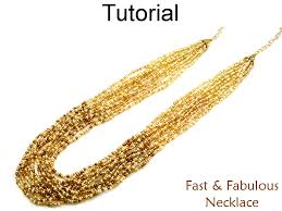bead tutorial necklace images Beading tutorial pattern multi strand gradated cone necklace JPG
