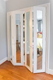 large white wooden sliding door with frosted glass panel interior