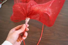 christmas mesh ribbon bunched ribbon again inches place tierra este 83564