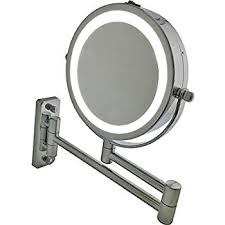 Wall Vanity Mirror Amazon Com Miusco Lighted Magnifying Double Side Adjustable