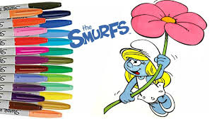 smurfs the lost village smurfette coloring book page how to color