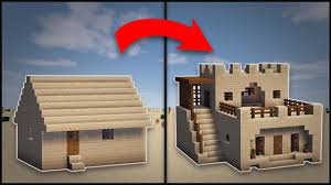 Remodeling A House Minecraft How To Remodel A Desert Village Large House Youtube