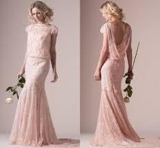 vintage rose gold lace sheath wedding dresses bridal gowns short