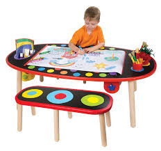 kids play table children arts crafts activity drawing painting