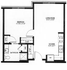 Floor Plan Of A Living Room One Bedroom U2014560 Sq Ft Christian Family Solutions