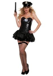 cop halloween costume black sequin cop costume