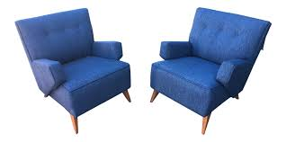 jens risom for knoll lounge chairs a pair chairish