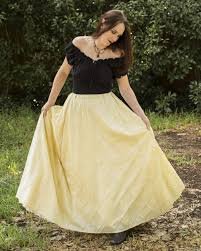steampunk halloween costume buttercream yellow pintuck taffeta renaissance skirt steampunk