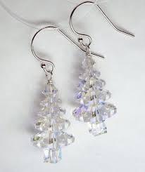 swarovski tree sterling silver earrings