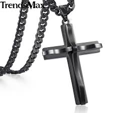 colored chain link necklace images Trendsmax cross pendant necklace men 39 s chain stainless steel curb jpg