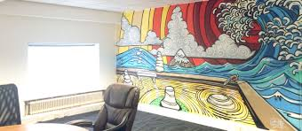the journey of cosmic images the zen boardroom i m back in truro installing a huge zen wave garden mural in their boardroom and an accounts contracts it themed mural in the accounts department