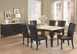 anisa cappuccino wood and marble dining table set steal a sofa