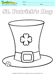 st patrick u0027s hat coloring sheet turtle diary