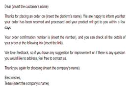 Order Confirmation Template by Order Confirmation Email Template Email Confirming Order