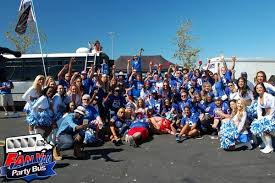 fan van party bus new york giants tailgate bleedbigblue com