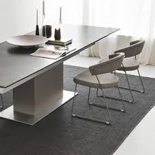 calligaris echo extending table calligaris sincro table in ceramic lead grey with matt taupe base