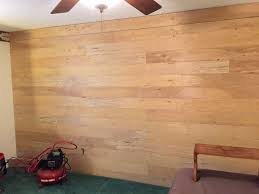 covering impossible to remove wallpaper with faux shiplap