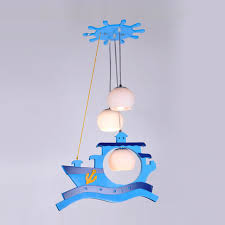 pirate ship light fixture modern study room pendant lighting fixtures kid s bedroom blue