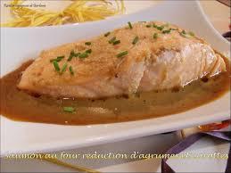 cuisiner du saumon au four saumon au four reduction aux agrumes et carottes recettes