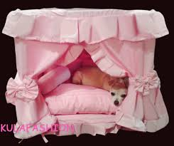 Dog Bed With Canopy Gorgeous Handmade Princess Pet Dog Cat Bed House 1 Candy Pillow