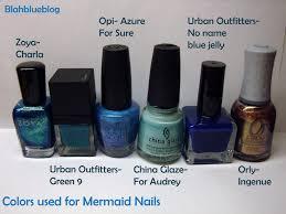 mermaid nails blahblueblog