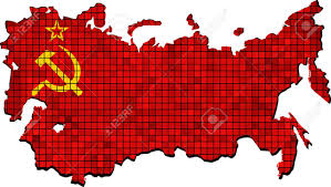 map of ussr soviet union map with flag inside illustration map of ussr