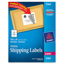 33 Labels Per Sheet Template by Avery 5164 Easy Peel White Shipping Labels Permanent Adhesive