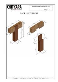 Wood Joints Diagrams by Manufacturing Practice Lab Manual B Tech Mechanical Engineering