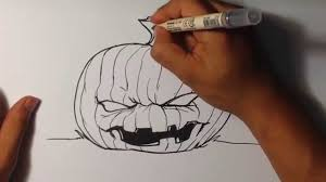 drawing a halloween jack o lantern easy pictures to draw youtube