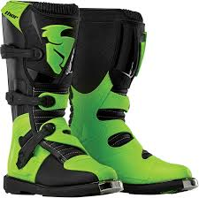 off road riding boots youth thor black green blitz s6 textile motorcycle riding off road