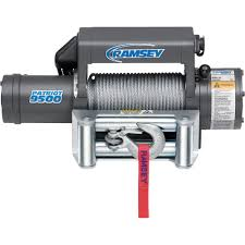 ramsey patriot front mount 12 volt dc powered electric truck winch