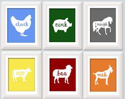 Farm Animal Nursery Decor Farm Animals Nursery Etsy