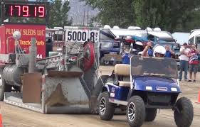 golf cart vs pulling sled tonasket truck u0026 tractor pull 2015