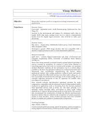 network technician sample resume sample resume for mechanical