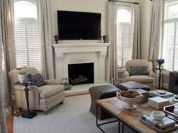 Traditional Interior Shutters Plantation Shutters With Curtains Family Room Traditional With