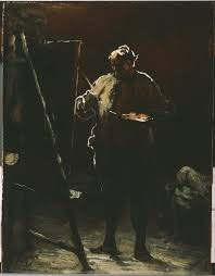 the painter file honoré daumier the painter at his easel