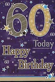 male traditional open happy 60th birthday card 4 x cards to
