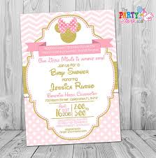 minnie mouse baby shower invitations minnie mouse baby shower invitations pink and gold minnie mouse