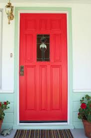 Front Door Red by Story And Space My Red Door With Mint Green Trim Exterior