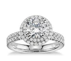 Platinum Diamond Wedding Rings by Blue Nile Studio Double Halo Gala Diamond Engagement Ring In