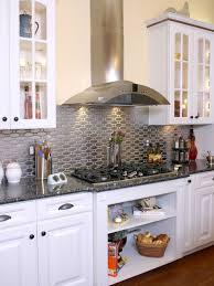 kitchen with stainless steel backsplash stainless steel backsplash houzz